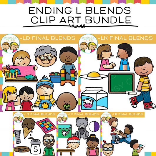 Ending L Blends Clip Art Bundle