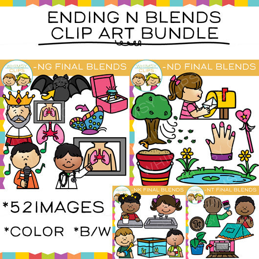 Ending N Blends Clip Art