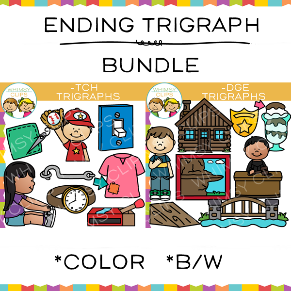 Ending Trigraphs Clip Art Bundle