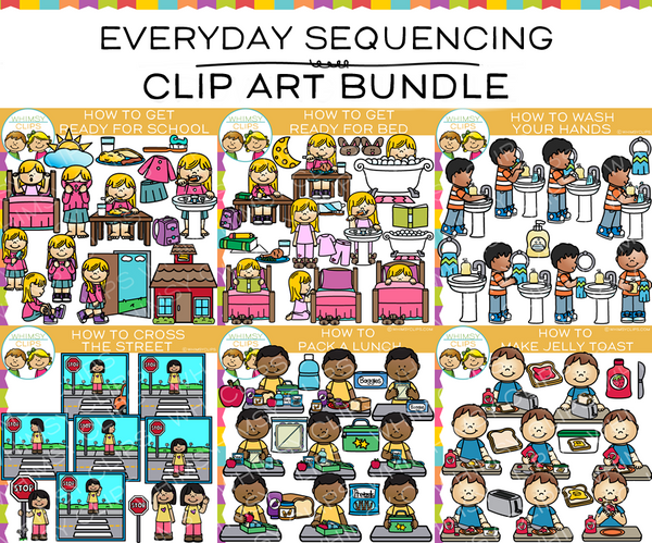 Everyday Sequencing Clip Art Bundle