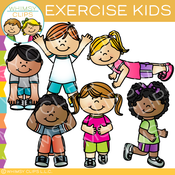 Exercise Kids Clip Art Images Illustrations Whimsy Clips