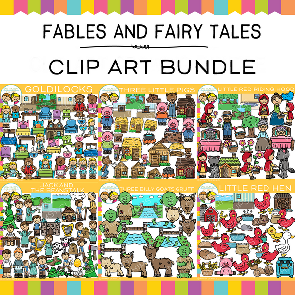 Fables and Fairy Tales Clip Art GROWING Bundle