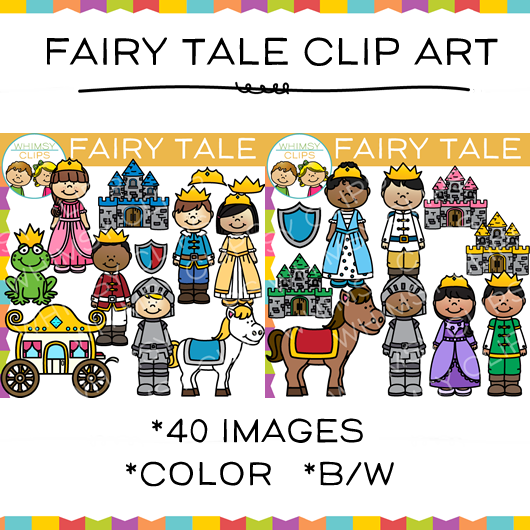 Kids Fairy Tale Clip Art