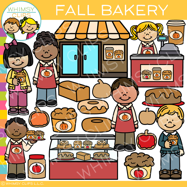 Fall Bakery Clip Art