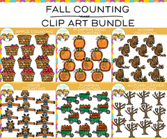 Fall Counting Clip Art