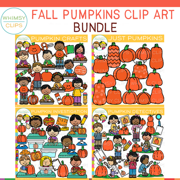 Fall Pumpkin Clip Art GROWING Bundle