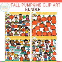 Fall Pumpkins Clip Art Bundle