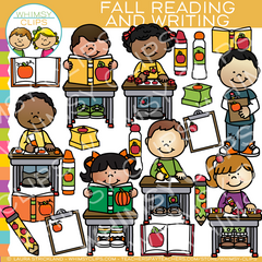 Autumn Reading and Writing Clip Art , Images ...