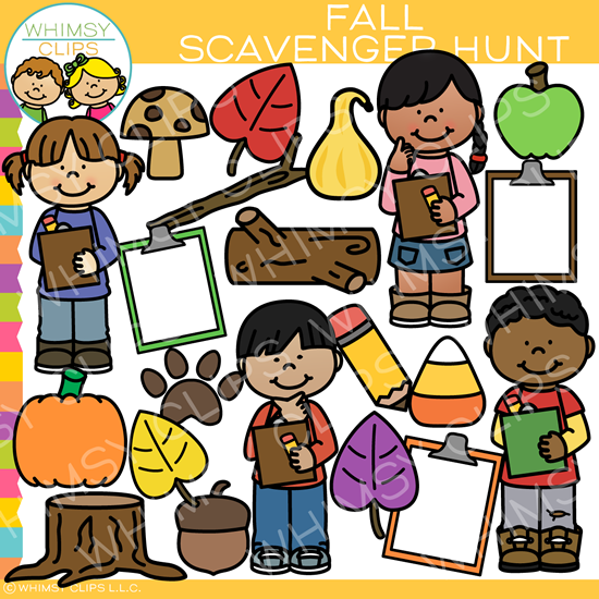 Fall Scavenger Hunt Clip Art