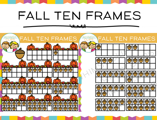 Fall Ten Frames Clip Art , Images & Illustrations | Whimsy Clips