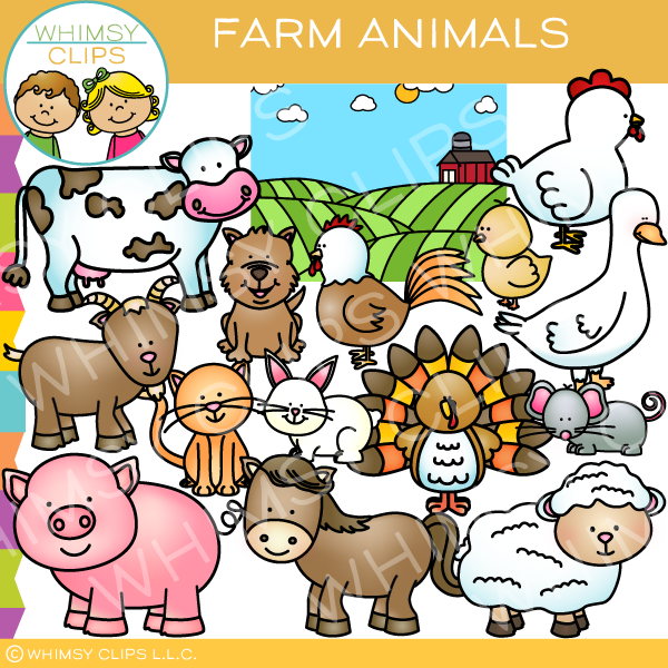 Cute Farm Animals Clip Art