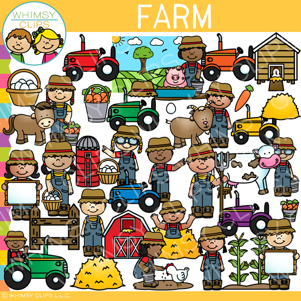 Farm Kids Clip Art