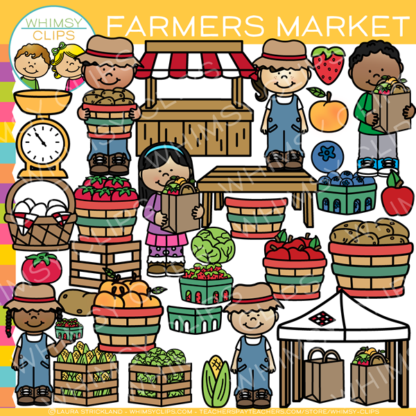 Kids Farmer Market Clip Art