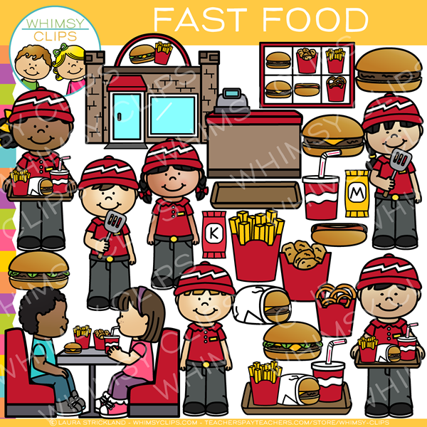 Kids Fast Food Clip Art