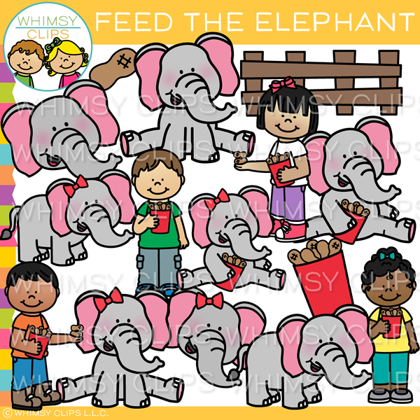 Feed the Elephant Clip Art