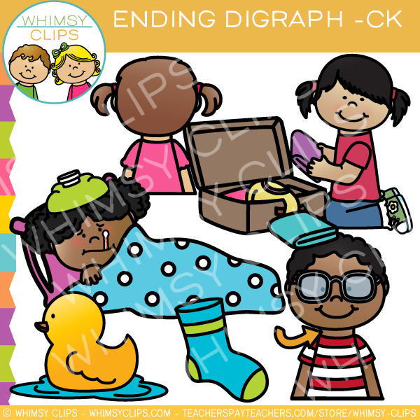Final Digraph Clip Art - CK Words