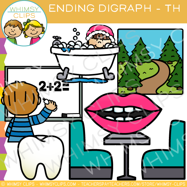Final Digraph Clip Art - TH Words