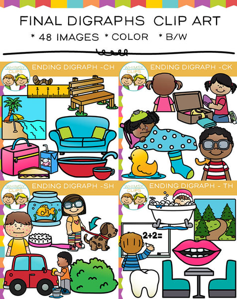 Final Digraph Clip Art  - Bundle