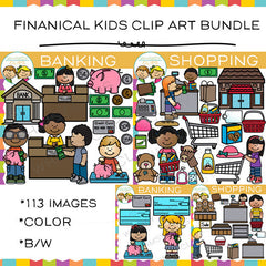 Financial Kids Clip Art