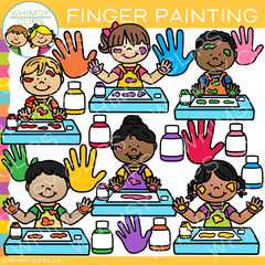 Finger Painting Clip Art