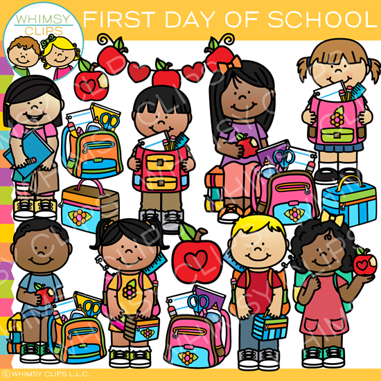 First Day of School Clip Art