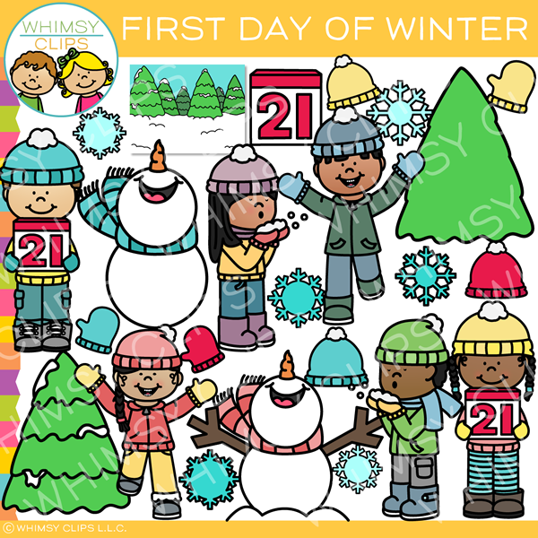 First Day of Winter Clip Art
