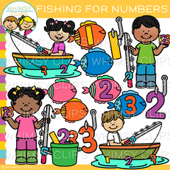 Number Fishing Clip Art