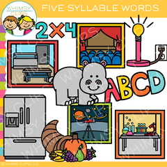Five Syllable Words Clip Art