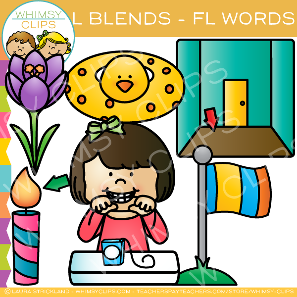 L Blends Clip Art - FL Words