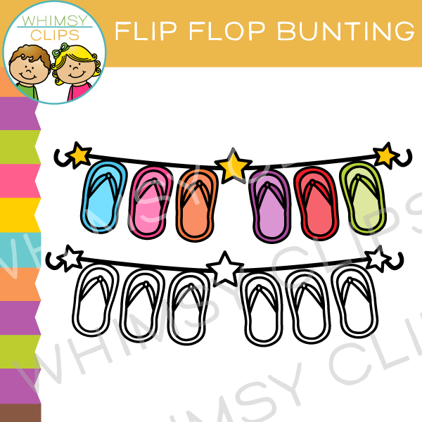 Free Flip Flop Bunting Clip Art