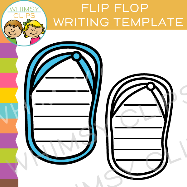 Free Flip Flop Writing Template Clip Art
