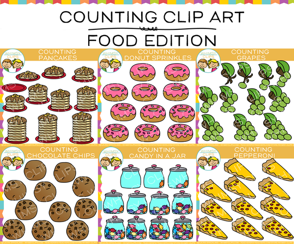 Counting Food Clip Art Bundle