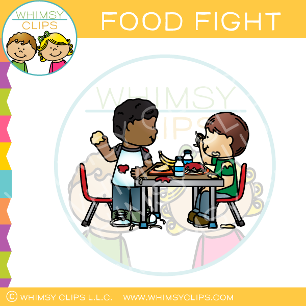 Food Fight Clip Art