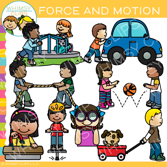 Force and Motion Clip Art
