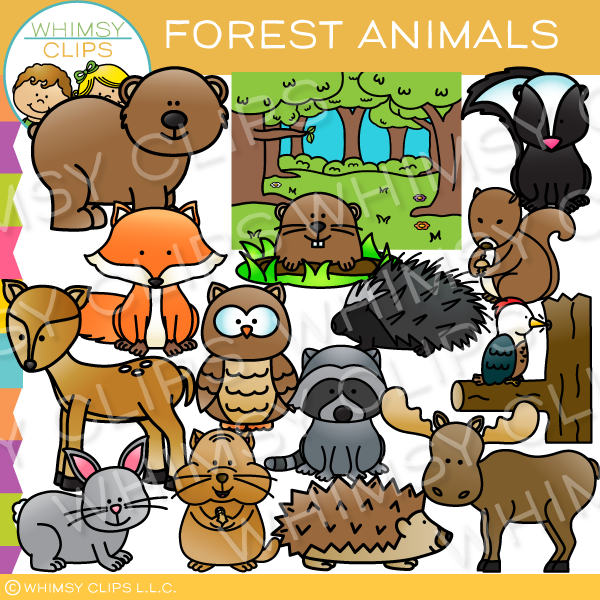 Cute Forest Animal Clip Art