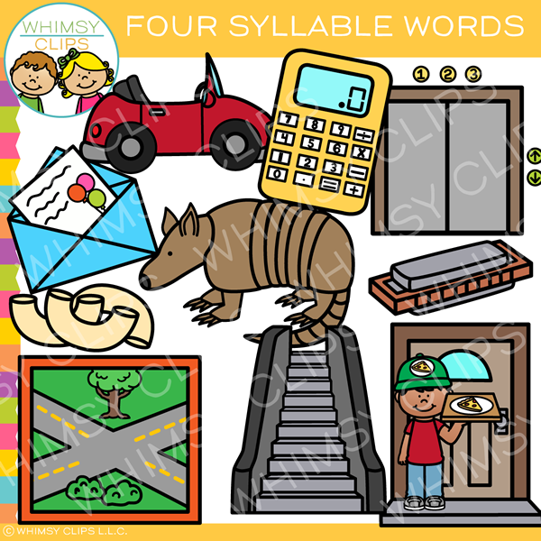 Four Syllable Words Clip Art