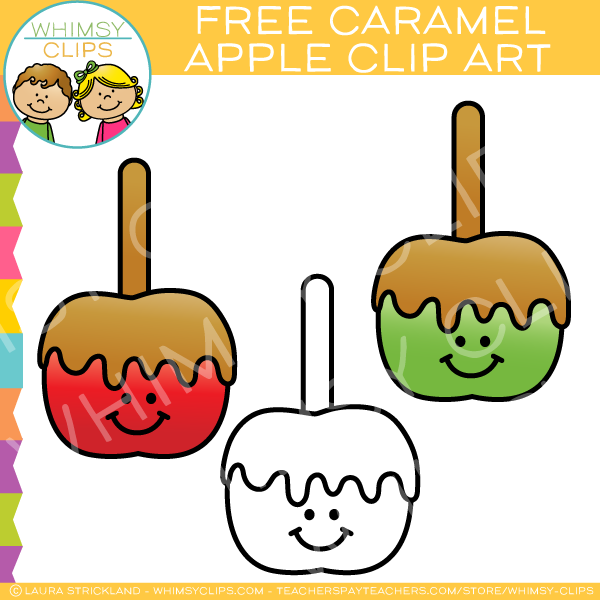 Free Caramel Apple Clip Art Images Illustrations Whimsy Clips