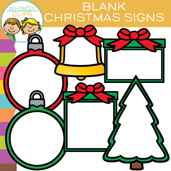 Free Blank Christmas Signs Clip Art