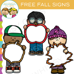 Free Fall Signs Clip Art