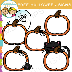 Free Halloween Signs Clip Art