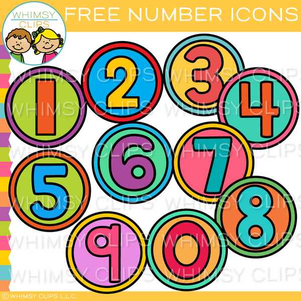 Free Number Icons Clip Art