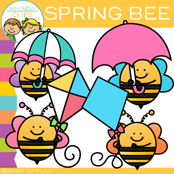 Free Spring Bee Clip Art