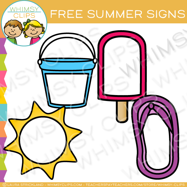 Free Blank Summer Signs Clip Art