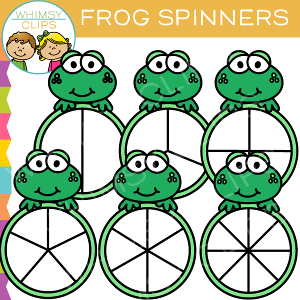 Free Frog Spinners Clip Art
