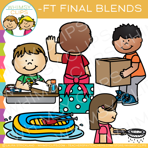 Ending Blends -FT Words Clip Art