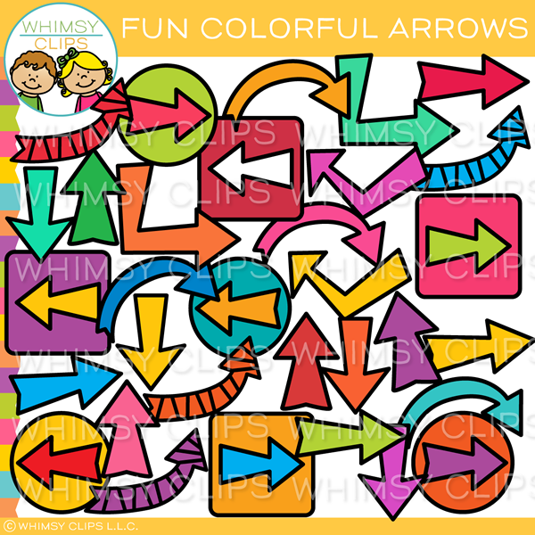 Colorful Arrows Clip Art
