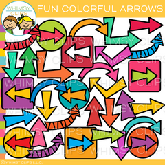 Fun Colorful Arrows Clip Art