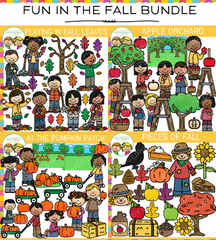 Fun in the Fall Clip Art