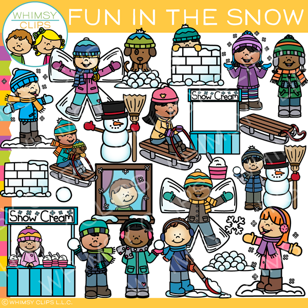 Fun in the Snow Clip Art