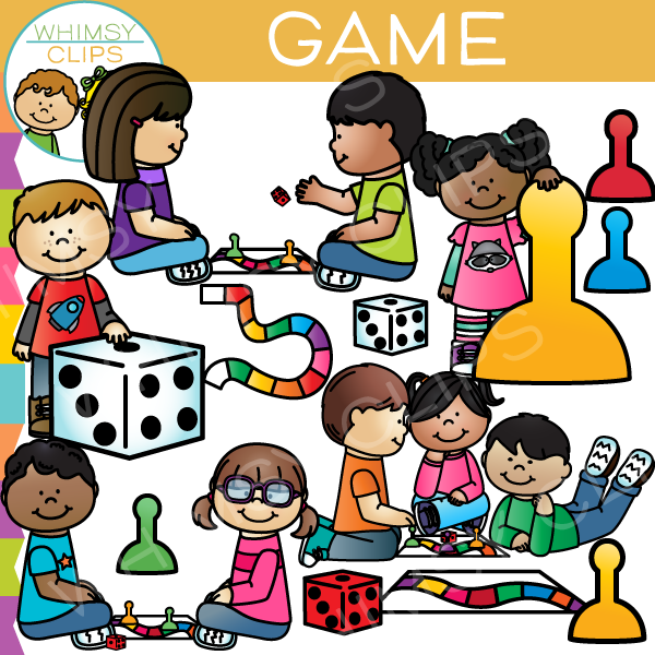 Game Kids Clip Art Images Illustrations Whimsy Clips